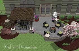 patio designs. Beautiful Patio Design With Pergola 2 Designs