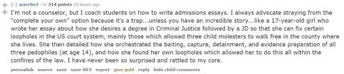 the most memorable college admissions essays reddit has ever seen law and order college application essays unit