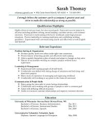 What To Put Under Objective On A Resume Sample Resume Without Objective Executive Sample Resume Objective 93