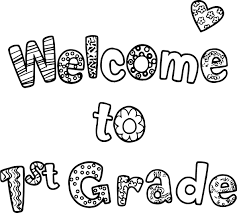 Welcome To First Grade Text Coloring Page Wecoloringpage