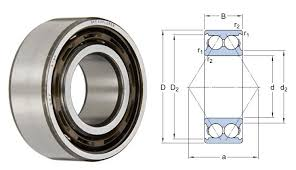 Double Row Ball Bearing Chart 3307atn9 C3 Skf Double Row Angular Contact Ball Bearing