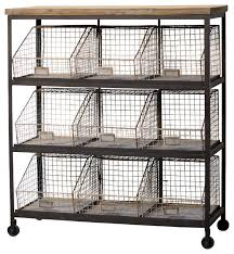 metal storage shelves. 9-bin metal storage rack with casters industrial-storage-and-organization shelves l
