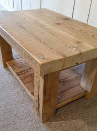 rustic wood coffee table made from