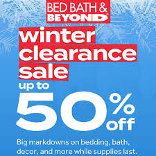 bed bath beyond winter clearance