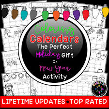 easy calendars coloring calendar parent christmas gift easy fun cute lifetime updates