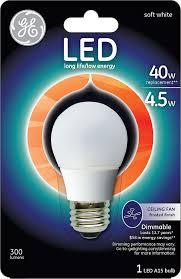 ge lighting 89986 led 4 5 watt 300 lumen dimmable a15 ceiling fan bulb with um base soft white 1 pack com