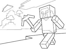 Coloring Pages Unique Best Images On Minecraft Steve Sheets