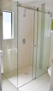 10mm clear toughened frameless sliding shower screen