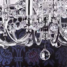 Mit Textilschirmen Kronleuchter Kristalldesign 1
