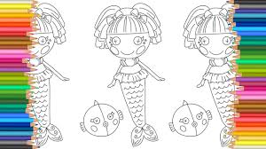 Lalaloopsy Mermaid Coloring Page L Coloring Markers Videos For