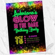 Online Printable Birthday Party Invitations Party Invitations Glow In The Dark Party Invitations Glow
