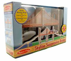 10626 skyline suspension bridge wooden train set 8