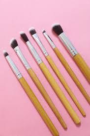 eco friendly bamboo 6 piece makeup brush set