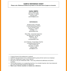 Sample Reference List For Job Reference List For Resume Template Dew Drops