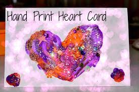 Valentines Day Cards For Boys Valentines Day Crafts For Kids Shiny Hand Prints Cards Fun Littles