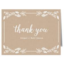 Thank You Cards Baby Shower Baby Shower Thank You Cards Match Your Color Style Free Basic