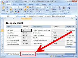 15 Payroll Form Excel Pay Stub Template