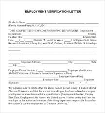 employment verification letter 14 free documents in pertaining to employment verification letter template word