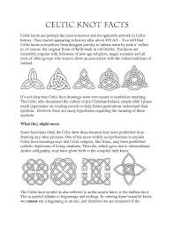 Celtic Symbol Chart Celtic Knots And Meanings Chart World Of Reference