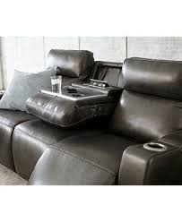 Oaklyn 85 3-Piece Leather Sectional Sofa with 2 Power Recliners ...