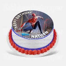 Spider Man Edible Cake Topper