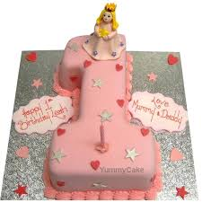 First Birthday Cakes For Girls Online Free Delivery Yummycake