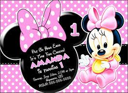 Mickey Mouse Birthday Card Template 10 Baby Birthday Card
