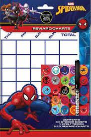 Spiderman Reward Chart Details About Marvel Spiderman Wipe Clean Childrens Reward Charts With Stickers Pen