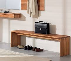 A luxuriously modern hall bench available with or without a shoe rack -  from Wharfside