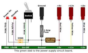 convert a computer power supply to a variable bench top lab power SATA Power Pinout picture of presenting the power