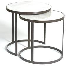 white nest of tables marble top nesting tables alder tweed round nesting tables with marble tops
