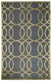 rizzy monroe soft wool rectangular area rug 8 x 10 grey gold geometric trellis