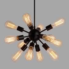 hot chandelier kitchen lights pendant lamp for dining room e27 bulbs beat light ceiling lamp iron white black house lights home decoration swag chandelier