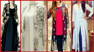 Party Gown Designs 2018 Latest Gown Style Open Shirt Casual Party Wear Dress Designs