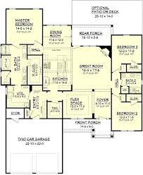 single story house plans with 2 master suites beautiful master suite arrangement one story ranch house