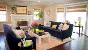 navy blue couches living room contemporary with area rug bamboo