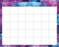 Mystical Magical Calendar Chart