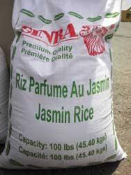 bag of jasmine rice. Bag On Of Jasmine Rice