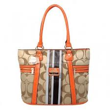Coach Zip In Signature Medium Khaki Totes BFK