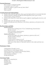 To Kill A Mockingbird Literary Terms Chart Key To Kill A Mockingbird Differentiated Unit Pdf Free Download