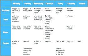 Training Programme Schedule Format Training Program Template Calendar Schedule Running Plan