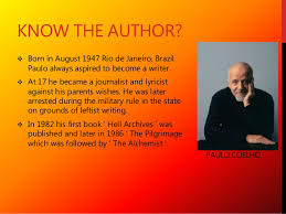 the alchemist paulo coelho  2 know the author