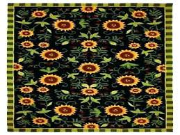 sunflower kitchen rugs sunflower kitchen rugs contemporary sunflowers black 5 rectangle black area rug for sunflower sunflower kitchen rugs