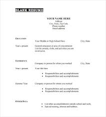 Resume Blank Template Simple Blank Resume Template 40 Free PSD Vector EPS AI Format