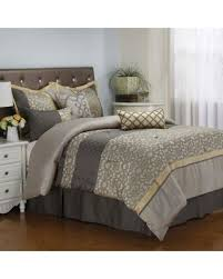 gray and gold bedding. Unique Gray Joseline 7Piece King Comforter Set In Greybuttercup Greygold Intended Gray And Gold Bedding Better Homes And Gardens