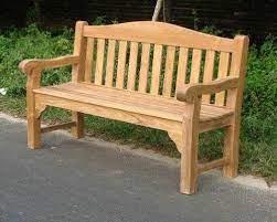 sustainable teak garden bench oxford