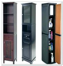 narrow storage cabinet on wheels tall with drawers sliding doors