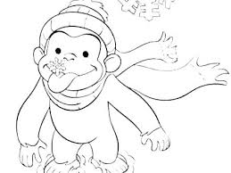 Curious George Coloring Pages Online Free To Print Christmas Face