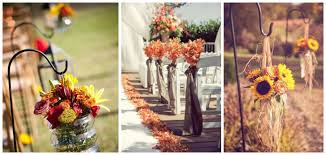 29 awesome wedding aisle decorations for fall wedding