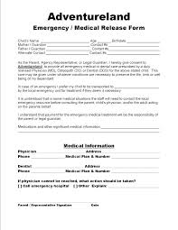 Medical Release Form Template For Child Consent Traveling Without ...
